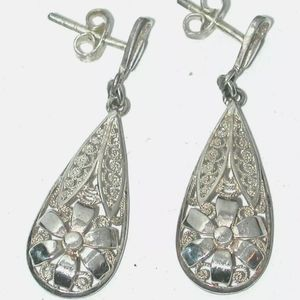 Vintage German sterling silver earrings